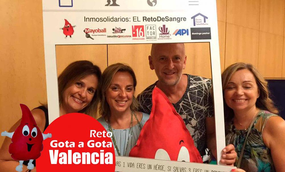 Reto gota a gota banco de sangre Valencia con Begoña Ballesteros de Mayoball y Angel Pinar