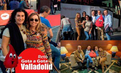Reto gota a gota banco de sangre Valladolid con Begoña Ballesteros de Mayoball y Angel Pinar